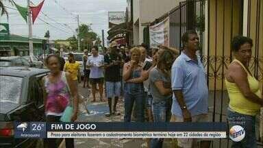 Filas marcam último dia do prazo para biometria em Américo Brasiliense - Cadastramento começou em fevereiro.