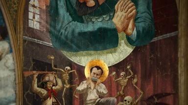 O Dia em que João Grilo se Encontrou com o Diabo - João Grilo, Eurico, Dora, o padre, o bispo, e Severino se encontram no céu. Nossa Senhora intercederá por eles perante Deus e o Diabo no julgamento final.