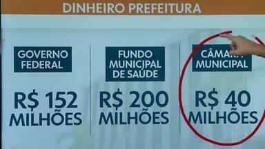 Prefeitura transfere R$50 milhões à Câmara e R$20 milhões ao TCM - Cesar Barbiero prometeu que 13º do funcionalismo será pago até este ano.