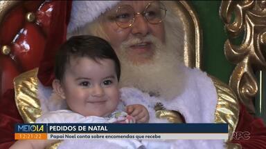 Papai Noel conta sobre os pedidos que recebe no Natal - Muitas crianças não pedem apenas brinquedos.