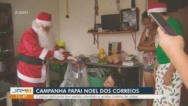 Papai Noel dos Correios atende pedidos de crianças - 5 mil cartinhas foram adotadas por padrinhos no Amazonas.