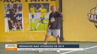 Com nove títulos no futsal e futebol, José Roque é o treinador mais vitorioso do Amapá - Com nove títulos no futsal e futebol, José Roque é o treinador mais vitorioso do Amapá