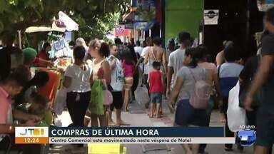 Centro de Santarém fica tumultuado para quem escolheu a véspera do natal para compras - Lojas vão funcionar até as 20h.