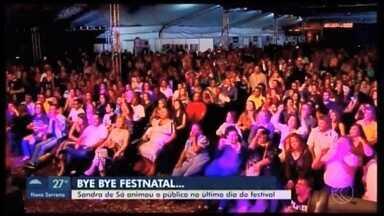 Sandra de Sá anima público na última noite do 'FestNatal' em Araxá - Foram 23 dias e mais de 200 atrações no festival que reuniu 100 mil pessoas. O evento teve o apoio da TV Integração.