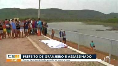 Prefeito de Granjeiro é assassinado quando fazia caminhada - Saiba mais no g1.com.br/ce