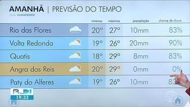 Meteorologia prevê Natal de tempo instável no Sul do Rio - Existe a possibilidade de chuva de moderada a forte intensidade nas cidades da região.