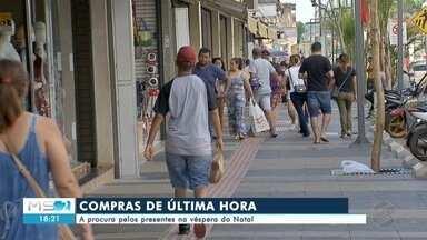 Compras de última hora movimenta comércio na véspera no natal - Em Mato Grosso do Sul.