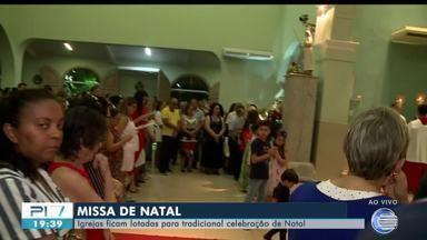 Igrejas de Teresina ficam lotadas para tradicional missa de Natal - Igrejas de Teresina ficam lotadas para tradicional missa de Natal