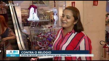 Véspera de Natal é marcada por muita gente correndo atrás de presentes em Belém - Comércio de Belém foi movimentado neste 24 de dezembro.