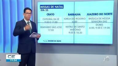 Igrejas do Cariri têm missas em vários horários neste dia de Natal - Confira mais notícias em g1.globo.com/ce