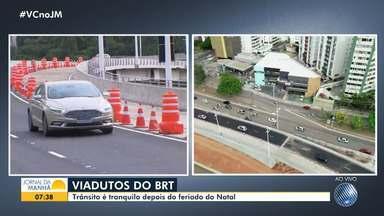 Após inauguração de viaduto, Avenida ACM tem mais uma interdição para obras do BRT - Confira as mudanças que acontecem na região, que é uma das mais movimentadas de Salvador.