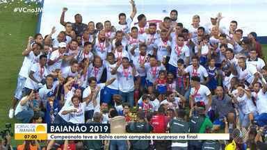 Retrospectiva: Veja os destaques do Campeonato Baiano 2019 - O Bahia levou o título de campeão este ano.