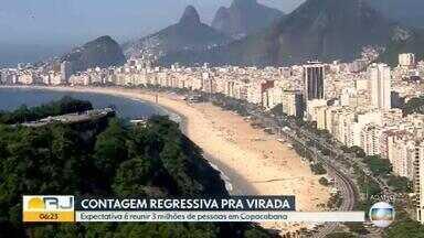 Réveillon em Copacabana deve reunir 3 milhões de pessoas - Cariocas e turistas já estão em contagem regressiva para a festa da virada do ano.