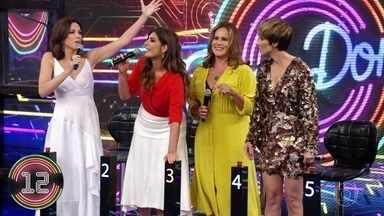 Ana Paula Araújo e Andréia Sadi acertam a primeira música - Dupla marca primeiro ponto no 'Ding Dong'