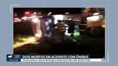 Dois mortos em acidente com um micro-ônibus em Mogi Mirim - Grupo passou o dia em Bertioga e voltava para São João da Boa Vista.