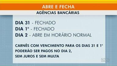 Meio-Dia Paraná traz informações com o que abre e fecha na virada - Confira os serviços e horários em Ponta Grossa.