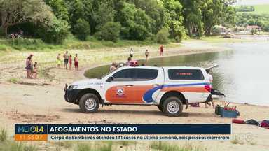 Corpo de idoso é encontrado depois de se afogar na região dos Campos Gerais - Caso foi em Sengés, nos últimos sete dias os Bombeiros atenderam 141 casos de afogamento em todo o Paraná.