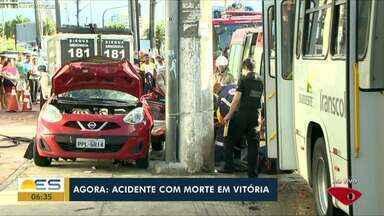 Cinegrafista morre depois de bater carro em acidente, em Vitória - Ele bateu o carro em um poste e morreu no local.
