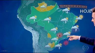 Veja qual é a previsão do tempo para o final de semana - Tiago Scheuer conta onde pode continuar chovendo.