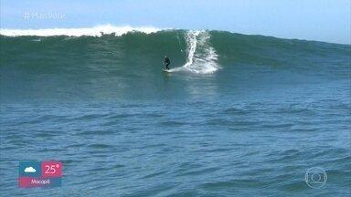 Laguna é point de surfistas de todo o mundo - Praias do Cabo de Santa Marta são famosas porque reúnem de surfistas iniciantes até aqueles que querem se aventurar nas maiores ondas do Brasil