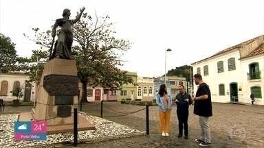 Jimmy e Nakamura conhecem um pouco da história de Laguna - Cidade natal de Anita Garibaldi é um prato cheio para quem gosta de história do Brasil