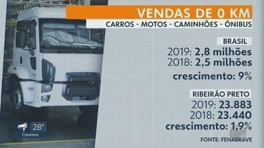 Venda de carros zero quilômetro cresce em 2019 em Ribeirão Preto - Aumento foi de 1,9% em relação ao ano anterior.