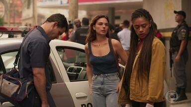 Betina identifica corpo de Vicente - Ela vai junto com Magno ao encontro da inspetora Miriam