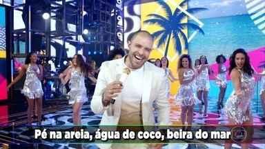 """Diogo Nogueira canta """"Pé na Areia"""" - Cantor agita a plateia do Domingão com sucesso"""