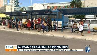 Obras do BRT modificam o itinerário de 22 linhas de ônibus que passam pela LIP - A via, que é acessada pelos coletivos nas imediações do GBarbosa, será bloqueada.