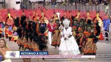 Pérola Negra retorna à elite do samba e desfila no Grupo Especial - Escola da Vila Madalena foi fundada em 1973.