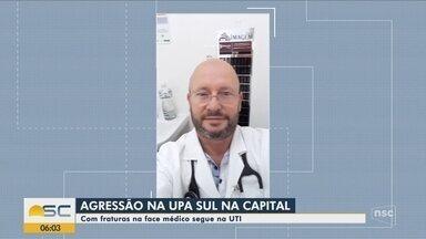 Pediatra está internado na UTI após sofrer agressões em Florianópolis - Pediatra está internado na UTI após sofrer agressões em Florianópolis