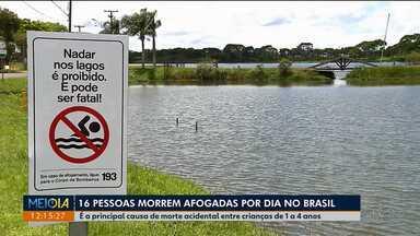 Dezesseis pessoas morrem afogadas por dia no Brasil - É a principal causa de morte acidental entre crianças de 1 a 4 anos.