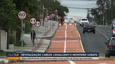 Meio-Dia Paraná percorre duas avenidas para saber como estão as obras de revitalização - As avenidas Monteiro Lobato, no Jardim Carvalho, e Carlos Cavalcanti, em Uvaranas, passam por obras importantes com mudanças para motoristas e pedestres.