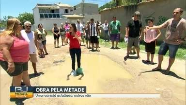 RJ Móvel em Campo Grande, nessa terça-feira (07) - Os moradores querem a retomada das obras de pavimentação, na região.