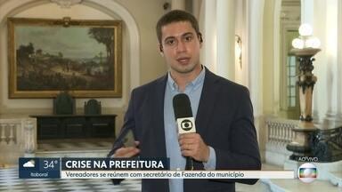 Prefeitura diz que paga hoje (7) servidores e empresas públicas - Vereadores se reúnem com secretário de Fazenda do município