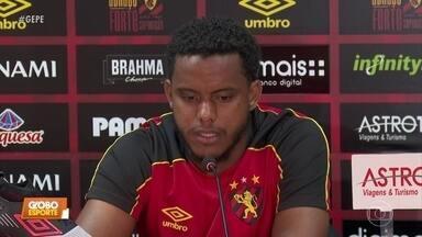 Rithely volta ao Sport e promete foco total no Leão - Rithely volta ao Sport e promete foco total no Leão