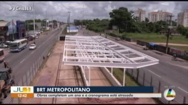 BRT Metropolitano está com 9% concluído em um ano de obras na BR-316, no Pará - BRT Metropolitano está com 9% concluído em um ano de obras na BR-316, no Pará