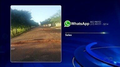 Confira reclamações enviadas ao WhatsApp da TV TEM por telespectadores - Confira reclamações enviadas ao WhatsApp da TV TEM por telespectadores