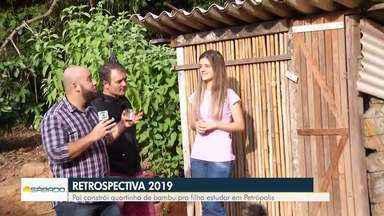 Pai constrói quartinho de bambu para a filha estudar em Petrópolis, no RJ - Confira mais uma reportagem especial na retrospectiva 2019 do BDS.