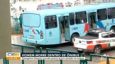 Passageiro morre dentro de ônibus no terminal da Lagoa - Saiba mais no g1.com.br/ce