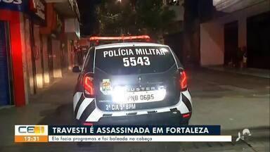 Travesti é assassinada no centro de Fortaleza - Saiba mais no g1.com.br/ce
