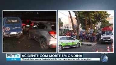 Acidente deixa uma pessoa morta no bairro de Ondina, na orla de Salvador - Por conta do acidente, trânsito ficou lento na região.