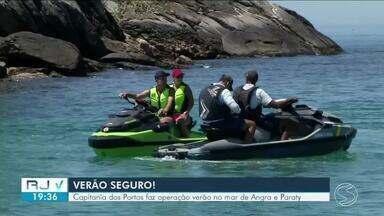 Capitania dos Portos realiza operação de verão no mar de Angra dos Reis e Paraty - Para evitar acidentes, a Marinha do Brasil está fiscalizando as embarcações.