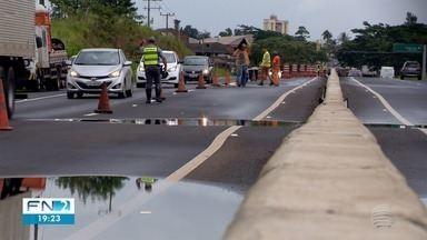 Ondulações na pista causam interdição parcial da Rodovia Assis Chateaubriand - Trecho afetado fica em Pirapozinho.