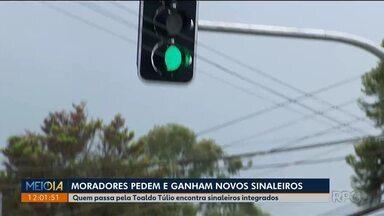 Novos sinaleiros dão mais agilidade ao transporte coletivo - No bairro São Brás tem novos sinaleiros na Toaldo Túlio