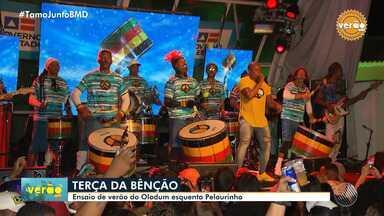 Grupo Olodum realiza show na primeira terça-feira de 2020, no Pelourinho - Evento recebeu convidados como Tatau, Sarajane e Jau.