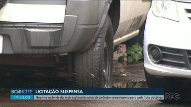 Tribunal de Contas suspende licitação de empresa para gerir a frota de veículos do Paraná - Governo vai ter de dar mais explicações antes de contratar nova empresa para gerir frota de carros