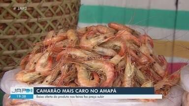 Camarão e caranguejo começa a faltar nas feiras de Macapá e consumidores pagam mais caro - Baixa oferta das espécies está elevando os preços. Caranguejo vai entrar em período de reprodução e captura será limitada.