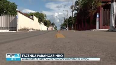 Moradores da Fazenda Paranoazinho comemoram decisão da Justiça - Decisão vai possibilitar a regularização dos terrenos.