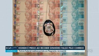 Homem recebe dinheiro falso pelos Correios e é preso - Ele nega envolvimento